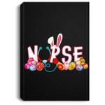 Stethoscope Nurse Easter Bunny Funny Eggs For Nurse Portrait Canvas