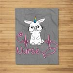 Stethoscope Nurse Happy Easter Cute Bunny Fleece Blanket