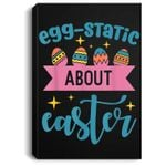 Funny Easter Bunny Rabbit Egg For Kids Boys Girls Portrait Canvas