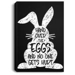 Funny Easter Day Bunny Rabbit Eggs Novelty Sarcastic Gift Portrait Canvas