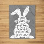 Funny Easter Day Bunny Rabbit Eggs Novelty Sarcastic Gift Fleece Blanket