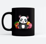 Funny Easter Panda Bear Panda Happy Easter Black Mugs