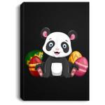 Funny Easter Panda Bear Panda Happy Easter Portrait Canvas