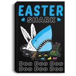 Funny Easter Shark Do Do Do Bunny Egg Gift Portrait Canvas