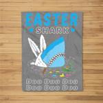 Funny Easter Shark Do Do Do Bunny Egg Gift Fleece Blanket