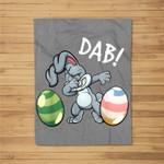 Dabbing Easter Bunny Easter For Kids Boys Girls Gift Fleece Blanket