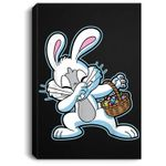 Dabbing Easter Bunny Kids Rabbit Dab Portrait Canvas