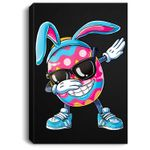 Dabbing Easter Egg Boys Kids Girls Hunter Hunting Gifts Dab Portrait Canvas