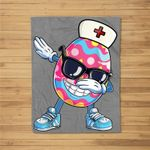 Dabbing Easter Egg Dab Dance Nurse Easter Nurse Gifts Fleece Blanket