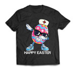 Dabbing Easter Egg Stethoscope Nurse Happy Easter T-Shirt
