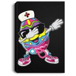 Dabbing Easter Egg With Stethoscope Nurse Easter Gift Portrait Canvas