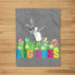 Dabbing Egg Boss Easter Bunny For Kids Toddlers Boys Fleece Blanket
