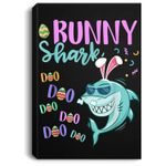 Bunny Shark Easter Shark Gifts Kids Boys Girls Portrait Canvas