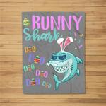 Bunny Shark Easter Shark Gifts Kids Boys Girls Fleece Blanket