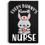 Bunny's Favorite Nurse Funny Easter Gift For Nurse Portrait Canvas