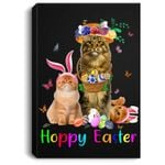 Cats Easter Day Bunny Eggs Happy Easter Gift Mens Womens Portrait Canvas