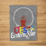 OES Style Order Of The Eastern Star Freemason Fleece Blanket