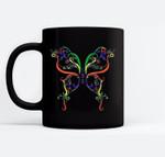 Order Of Eastern Star Butterfly Black Mugs