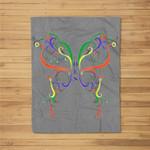 Order Of Eastern Star Butterfly Fleece Blanket