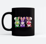 Easter Gnomes Egg Hunting Gift for Women Men Kids Black Mugs