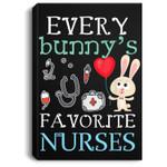 Every Bunny's Favorite Nurse Bunny Easter Nurse Gift Portrait Canvas