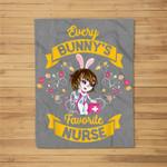 Every Bunny's Favorite Nurse RN Nursing Easter Fleece Blanket