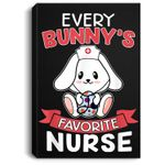 Every Bunnys Favorite Nurse Funny Easter Gift Portrait Canvas
