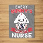Every Bunnys Favorite Nurse Funny Easter Gift Fleece Blanket