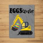 Excavator Easter Eggs Digger Eggscavator Men Boys Fleece Blanket