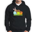 Funny Sloth Easter Day Bunny Ear Egg Easter Boys Girls Sweatshirt & Hoodie