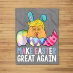 Funny Trump Make Easter Great Again Fleece Blanket