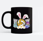Funny Volleyball Easter Bunny Egg Costume Boys Girl Gift Black Mugs