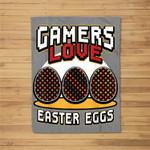 Gamer Easter for Boys Girls Toddler Men Video Game Fleece Blanket