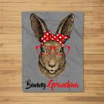 Grandma Bunny Cute Easter Gifts for Women Fleece Blanket