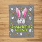 Grandmother Bunny Easter Egg Hunting Costume Gift Fleece Blanket