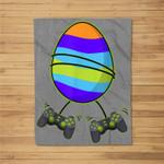 Video Gamer Egg Controllers Easter Day Funny Boys Girls Kids Fleece Blanket