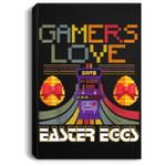 Vintage Gamer Love Easter Eggs Toddler Video Game Portrait Canvas