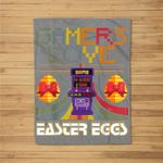 Vintage Gamer Love Easter Eggs Toddler Video Game Fleece Blanket