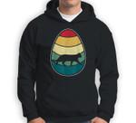 Vintage Retro Cat Easter Egg Happy Easter Sweatshirt & Hoodie