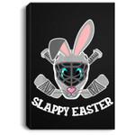 Easter Bunny Hockey Mask Eggs Hunting Rabbit Egg Portrait Canvas