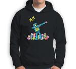 Easter Dabbing Robot Family with Bunny Ears Gift Sweatshirt & Hoodie