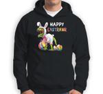 Happy Eastrawr T Rex Dinosaur Easter Bunny Sweatshirt & Hoodie