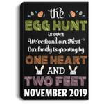 Pregnancy Announcement Due In November 2019 Easter Portrait Canvas