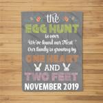 Pregnancy Announcement Due In November 2019 Easter Fleece Blanket