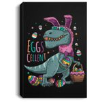 T Rex Easter Bunny Egg Cellent Dinosaur Easter Eggs T Portrait Canvas