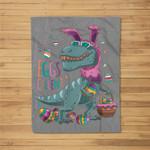 T Rex Easter Bunny Egg Cellent Dinosaur Easter Eggs T Fleece Blanket