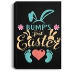 Bump's First Easter New Baby Mother Mom Pregnant Portrait Canvas