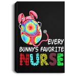 Bunny Egg Easter Every Bunny's Favorite Nurse Portrait Canvas