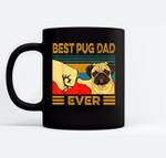 Best Pug Dad Ever Retro Vintage Ceramic Coffee Black Mugs