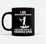 Funny Bowfishing Quote Bow Fish Hunting Ceramic Coffee Black Mugs